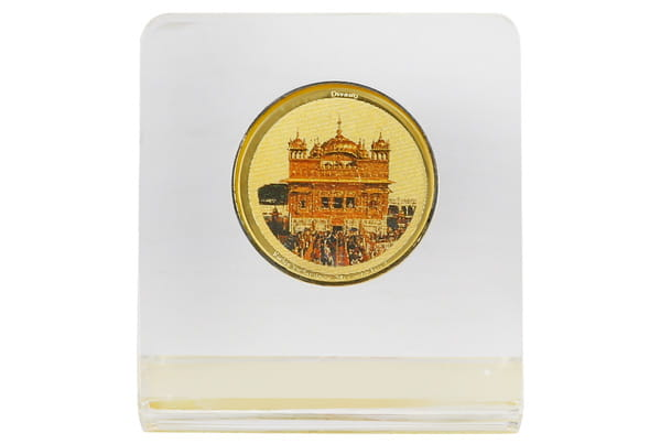 Dashboard Frame - Golden Temple (Acrylic) 24k Gold Plated
