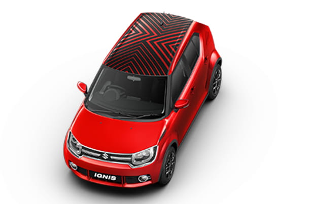 Car Graphics - Roof Wrap (Implode Red) | Ignis