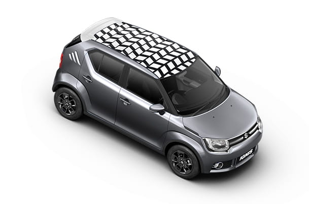 Car Graphics - Roof Wrap (Unbox White) | Ignis