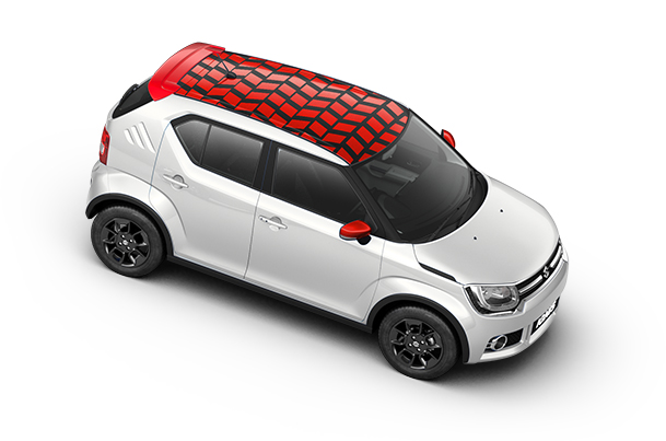 Car Graphics - Roof Wrap (Unbox Red) | Ignis