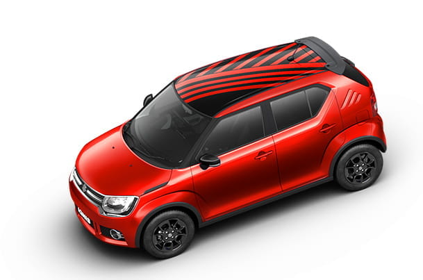 Car Graphics - Roof Wrap (Radical Red) | Ignis