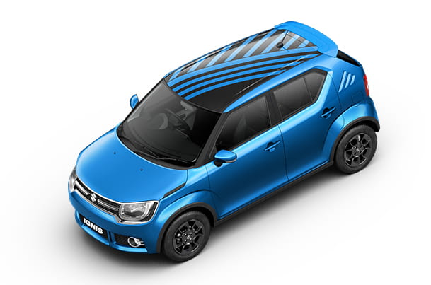 Car Graphics - Roof Wrap (Radical Blue) | Ignis