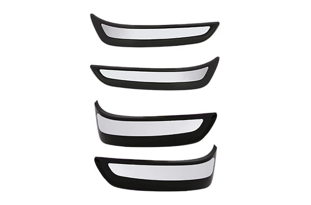 Bumper Corner Protector - With Chrome Insert (Black)