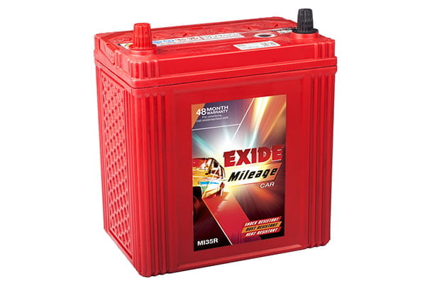 Car Battery | Exide 34B19LMF - Petrol | S-Cross \ Alto K10 \ Alto 800 \ Ignis \ WagonR \ Swift \ Dzire \ Baleno \ Brezza