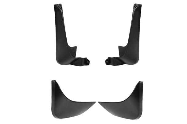 Mud Flap Set -  Front & Rear (Black) | Old Wagon R