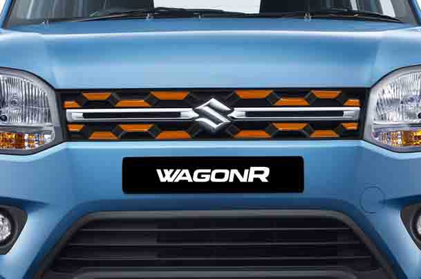 Front Grille Garnish (Orange & Black) | Wagon R