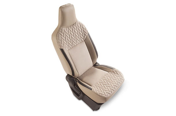 Seat Cover - Greige Knit (PU & Fabric) | Wagon R (V & Z Variant)