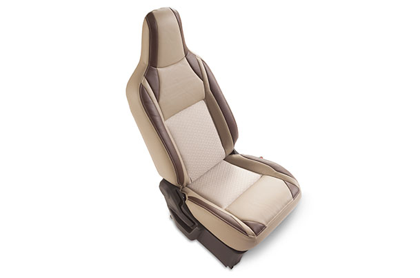 Seat Cover - Cocoa Highlight Cross (PU & Fabric) | Wagon R (V Variant)
