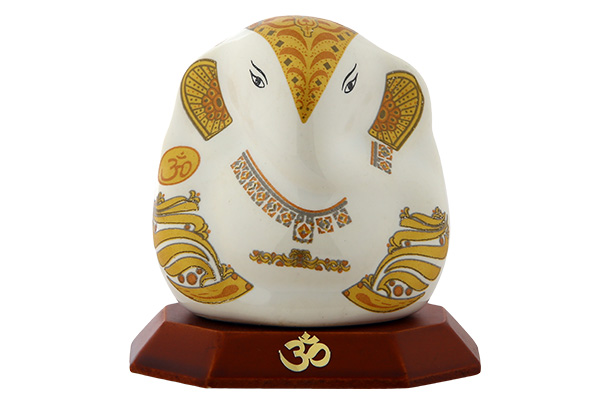 God Idol - Ganesha (Ceramic) | White