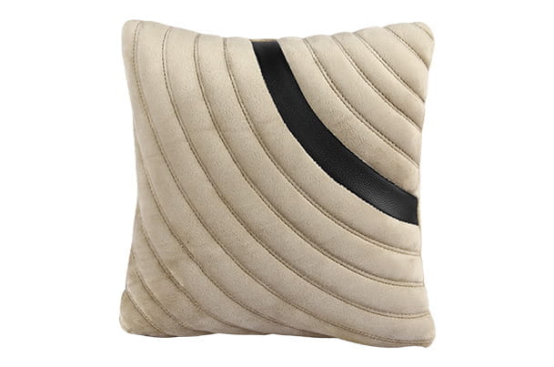 Cushion - Quilted (Beige with Black Insert) | 1 Piece