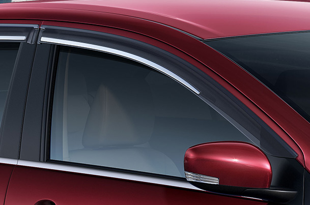 Door Visor - with Chrome Insert | Ciaz