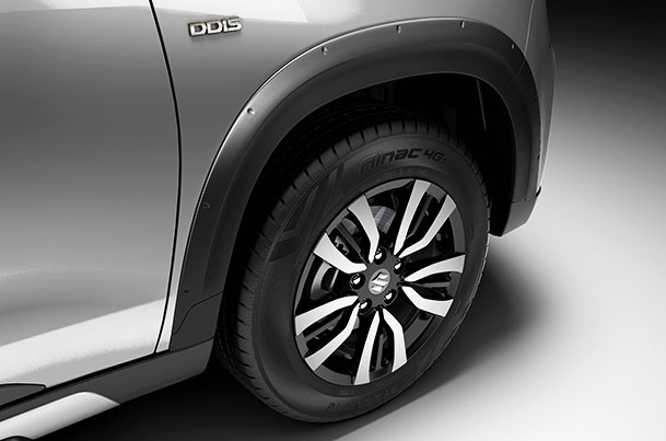 Wheel Arc Cladding - Front & Rear (Black) | Vitara Brezza